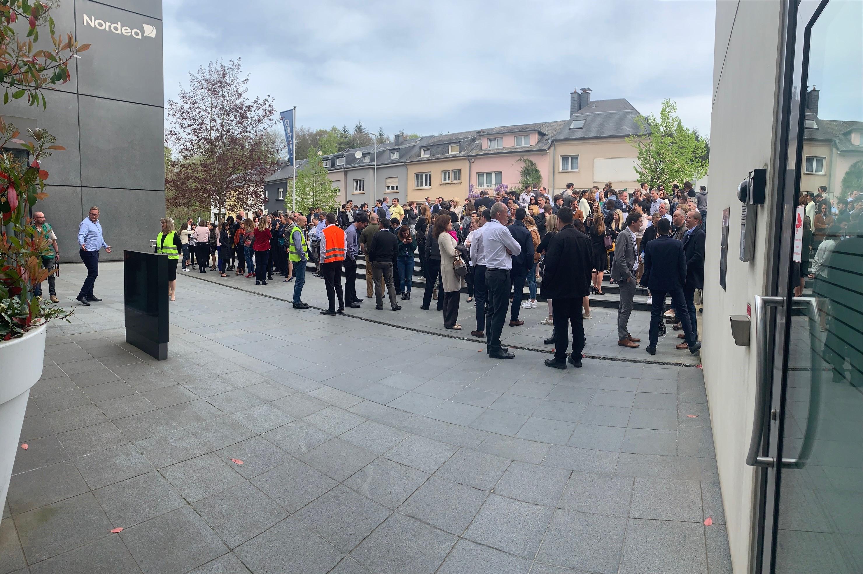 exercice d'évacuation réalisé au luxembourg